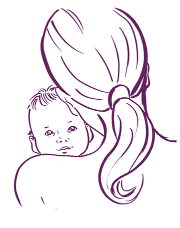 Illustration: Frau mit Baby
